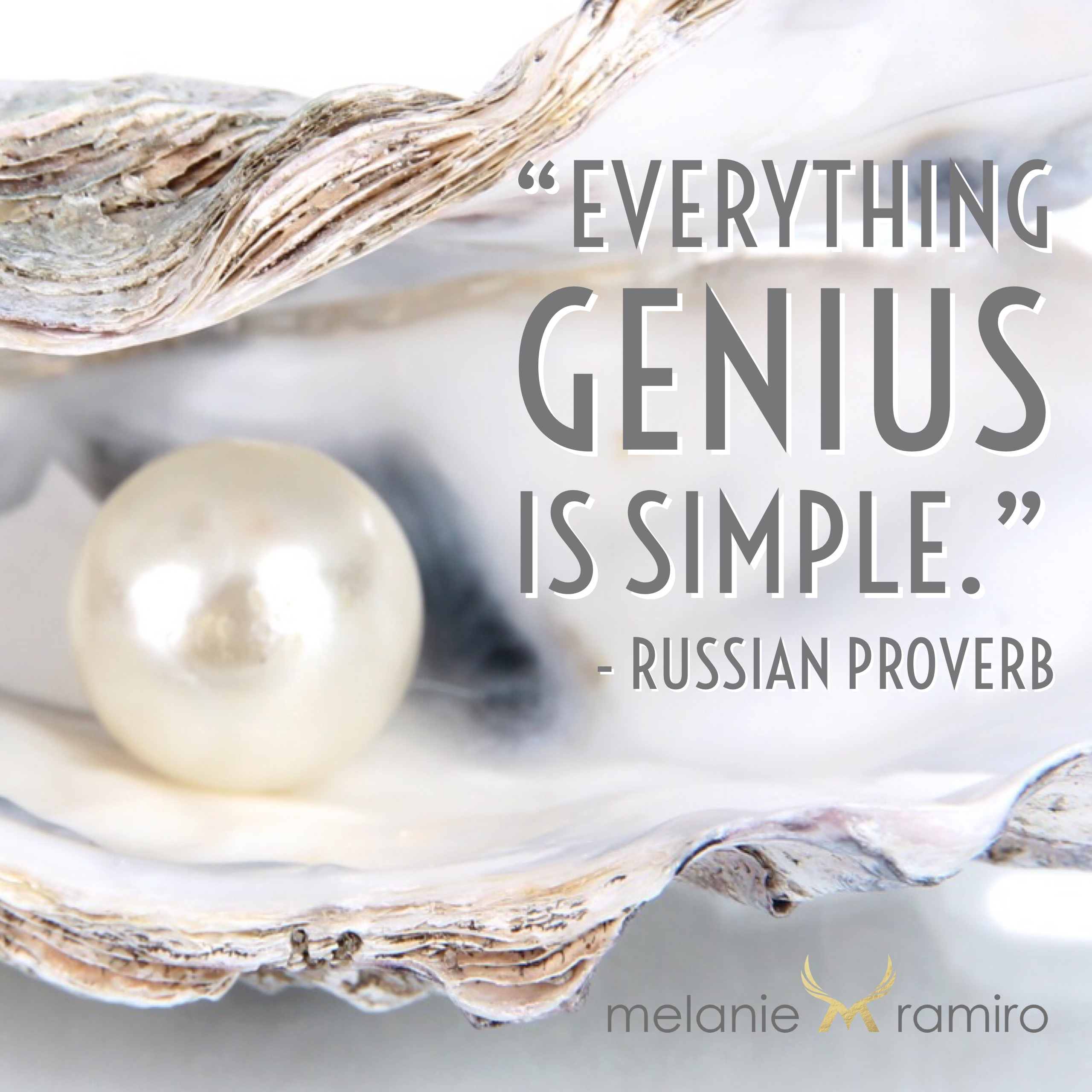 Everything genius is simple